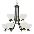 "Vitalian Vitalian 30"" Oil Bronze Contemporary Chandelier with Multiple Glass Choices for Shades"