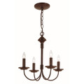 """Candle Collection 14.5"""" Indoor Rubbed Oil Bronze Colonial Chandelier"""