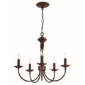 """Candle Collection 19"""" Indoor Rubbed Oil Bronze Colonial Chandelier"""