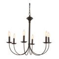 "Trans Globe Lighting 9016 BK 24"" Indoor Black Colonial Chandelier"