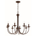 """Candel Collection 26.5"""" Indoor Rubbed Oil Bronze Colonial Chandelier"""