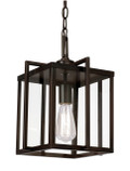 "Eastwood 10"" Indoor Rubbed Oil Bronze Industrial Pendant with Open Box Contemporary Design"