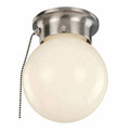 """Trans Globe Lighting 3606P WH 6"""" Indoor White Traditional Flushmount(Shown in BN Finish)"""