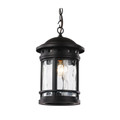 "Trans Globe Lighting 40375 RT 15"" Outdoor Rust Nautical Hanging Lantern(Shown in Black Finish)"