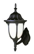 "Trans Globe Lighting 4040 BG 13"" Outdoor Black Gold Traditional Wall Lantern(Shown in Black Finish)"