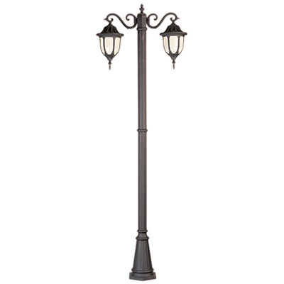hamilton 93 outdoor rust traditional pole light with classic