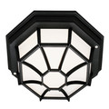 "Trans Globe Lighting 40581 BG 4"" Outdoor Black Gold Rustic Flushmount Lantern(Shown in Black Finish)"