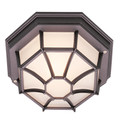 "Trans Globe Lighting 40582 BG 5"" Outdoor Black Gold Rustic Flushmount Lantern(Shown in Black Finish)"
