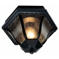 "Trans Globe Lighting 4558 SWI 8.75"" Outdoor Swedish Iron Traditional Flushmount Lantern"