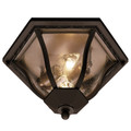 "Trans Globe Lighting 4559 BG 8.5"" Outdoor Black Gold Traditional Flushmount Lantern"