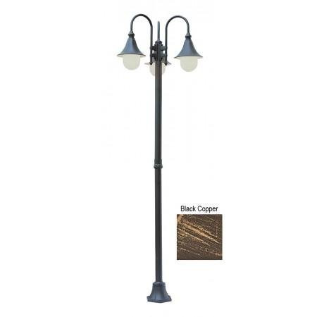 Promenade 86 outdoor black copper transitional pole light with opal 4776 bc outdoor pole light aloadofball Image collections