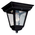 "Trans Globe Lighting 4903 BG 7.25"" Outdoor Black Gold Traditional Flushmount Lantern"