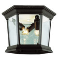 "Trans Globe Lighting 4904 BG 6.5"" Outdoor Black Gold Traditional Flushmount Lantern"