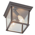 "Trans Globe Lighting 4905 WH 6.5"" Outdoor White Traditional Flushmount Lantern"