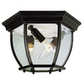 "Trans Globe Lighting 4906 BC 6.5"" Outdoor Black Copper Traditional Flushmount Lantern"