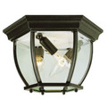 "Trans Globe Lighting 4907 SWI 6.5"" Outdoor Swedish Iron Traditional Flushmount Lantern"