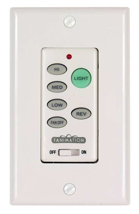 Fanimation C21 Wall Control for Fan & Light (3-Speed/Rev) in White