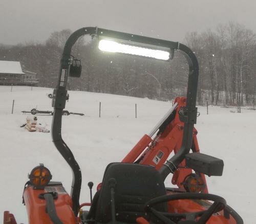Kubota Tractor Led Lights : Led light bar rops tractor mounting kit kubota john