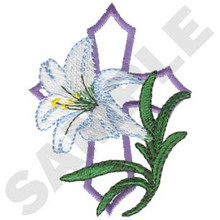Easter Lily and Cross