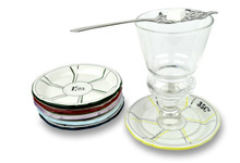 Porcelain Absinthe Coasters/Saucers in 6 Assorted Colors