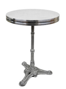 French Aluminum Bistro Table 20""