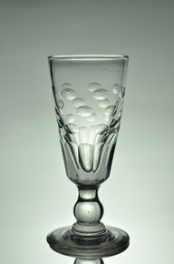 Antique Oval Cuts and Facet-Cut Yvonne Absinthe Glass