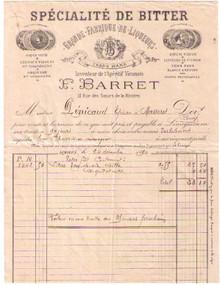 F. Barret Invoice