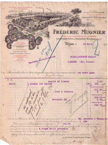 Frederick Mungier Invoice