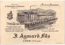 Distillerie J Aymard Fils Business Card