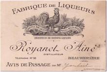 Distillerie Royanet Aine Business Card