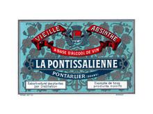 Antique La Pontissalienne Mignonnette Absinthe Bottle Label
