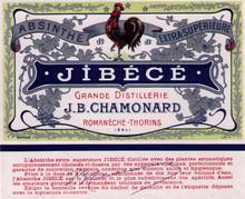 Antique Jibece Absinthe Bottle Label