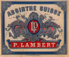 Antique P. Lambert Absinthe Bottle Label