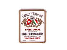 Antique Duval Mini-Mignonette Absinthe Bottle Label, 65 Degree