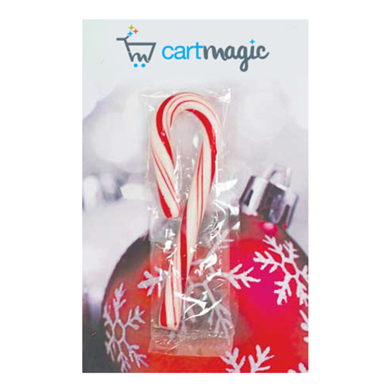 Branded Business Card With Mini Candy Cane