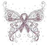 Ovrs5314 - Cancer Awareness Ribbon Butterfly