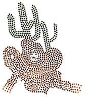 Ovrs303 -  Western Cowboy Hat and Cactus