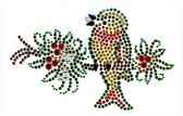 Ovrs1520 - Christmas Bird on Branch - ON SALE!