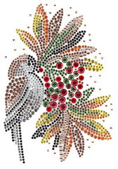 Ovrs1529 - Christmas Bird and Cherries