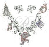 Ovrs5367 - Christmas Ornaments V-Neckline