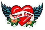 Ovrs3028L - Large True Love Heart with Wings  - ON SALE!
