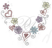 Ovrs5136 - Hearts and Flowers V-Neckline