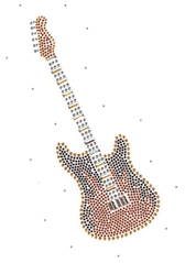 Ovrs1650 - Guitar with Scattered Stones