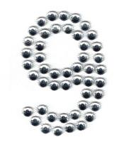 Ovrs3388-9 - 2 Inch Double Row Rhinestone Number 9