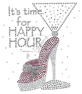 Ovrs5237 - It's Time for Happy Hour with High Heel Martini Glass
