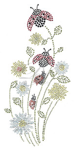 Ovrs1018 - Ladybugs on Daisies
