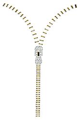 Ovrh809 - Gold Zipper V-Neckline