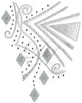 Ovrs7214 - Geometric Swirls and Diamonds Decor Design