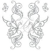 Ovrs6130 - Butterfly Decor Set w/ Swirls