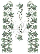 Ovrs4909 - St. Patricks Day Hats and Shamrocks 4 piece Jacket Set